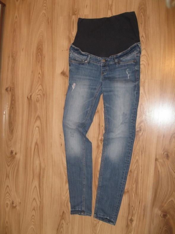 spodnie jeans ciążowe H&M mama skinny 36