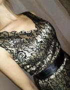 Piękna sukienka wieczorowa balaowa 38 koronka...