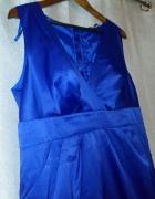 Sukienka wieczorowa balowa 44 kobaltowa atramentowa granatowa n...
