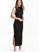 H&M sukienka 36 S czarna rib prążki maxi...