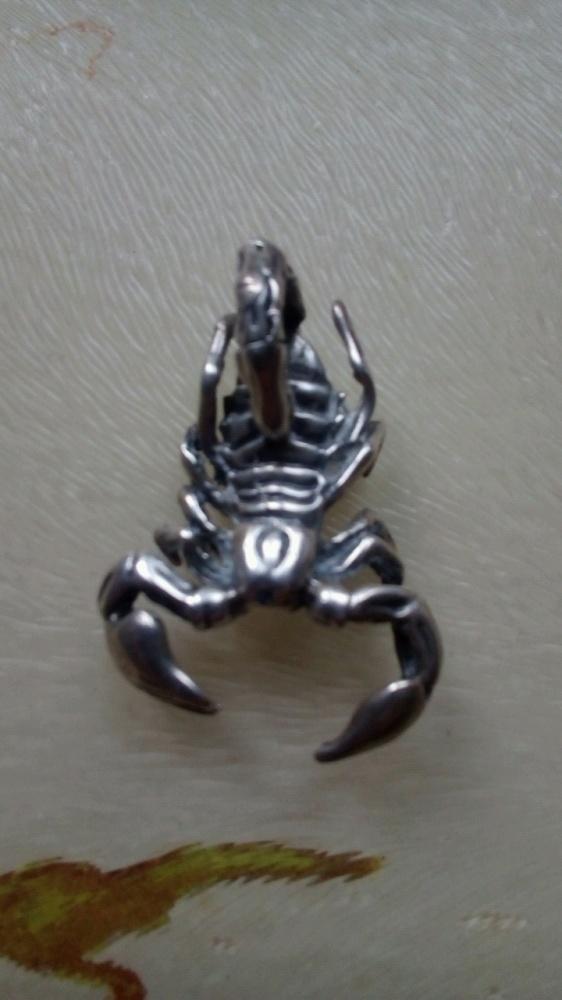Stary srebrny skorpion