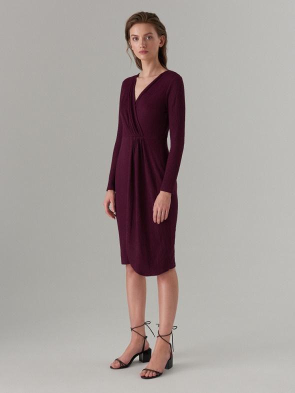 Mohito sukienka fioletowa zakładana 36 S kopertowa...