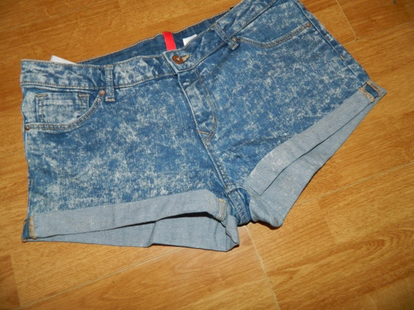 Spodenki Divided H&M szorty spodenki jeans marmurki roz 42