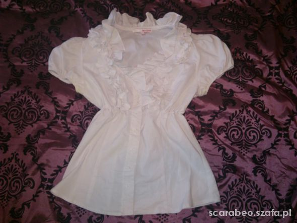 biała bluzka taily wiel z falbankami XL