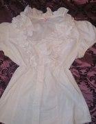 biała bluzka taily wiel z falbankami XL...