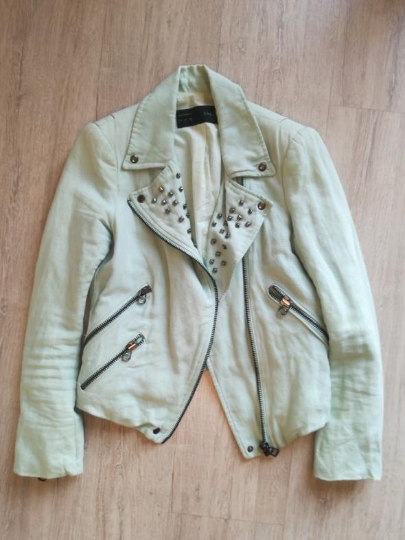 Odzież wierzchnia Ramoneska miętowa Zara