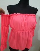 Bluzeczka neonowa hiszpanka odkryte ramiona...