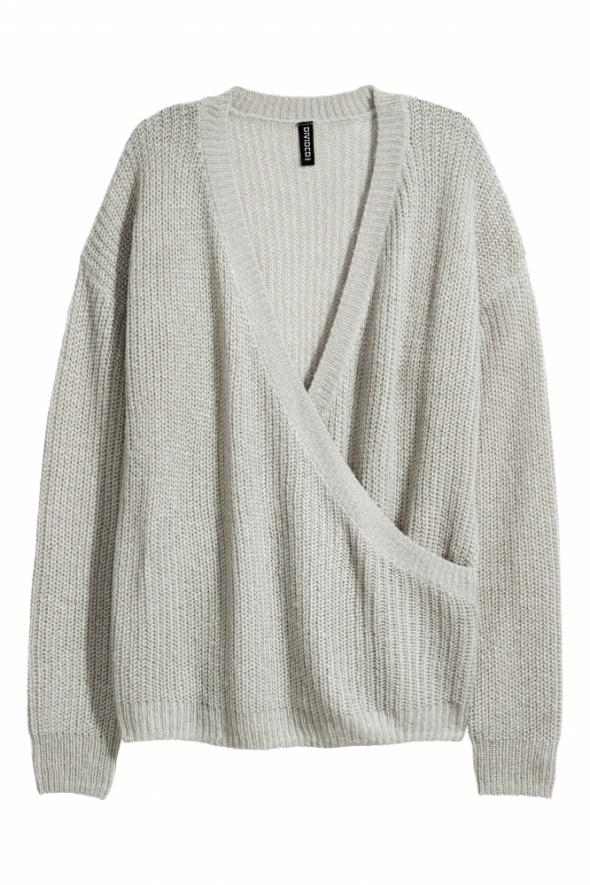 H&M Divided sweter z kopertowym dekoltem XS...