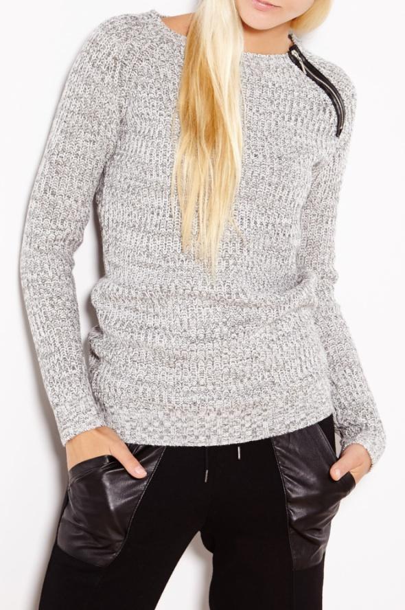 Melanżowy sweter z ozdobnym zamkiem House XS...