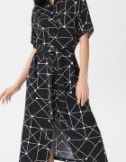 NOWA wzorzysta sukienka szmizjerka śliczna XS 34...