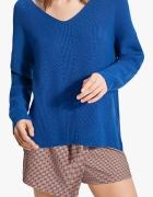 Stradivarius kobaltowy sweter oversize rozm S