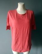 Malinowa bawełniana bluzka XL...
