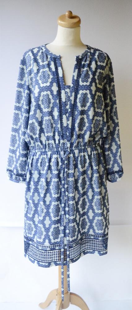 Sukienka Tommy Hilfiger TH XL 42 Wzory Elegancka Azteckie