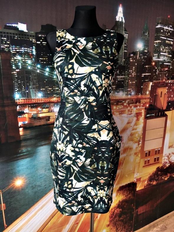 h&m sukienka ołówkowa midi modny wzór hit blog 36