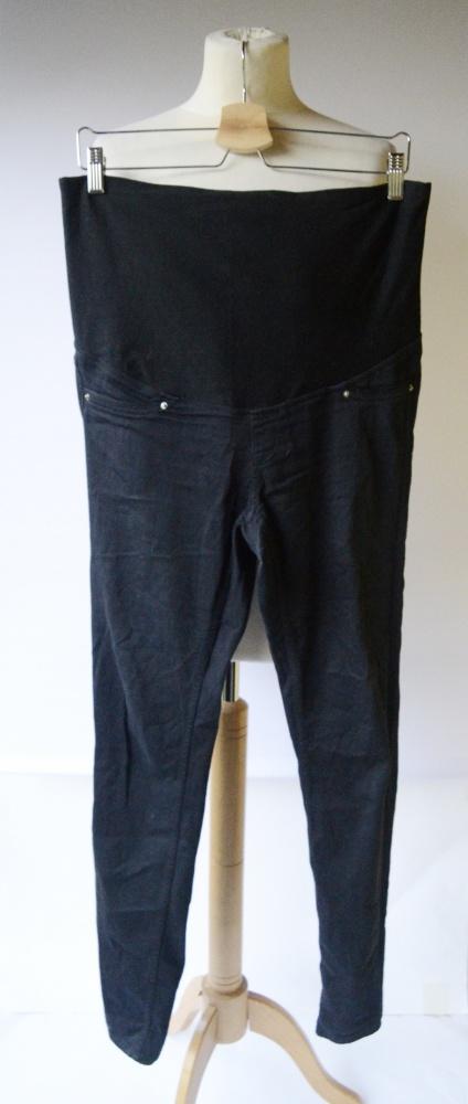 Spodnie Granatowe H&M Mama L 40 Tregginsy Ciążowe