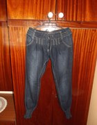 jeansy ze ściągaczami