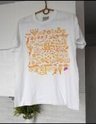 Nike biała koszulka tshirt nadruk print oversize...
