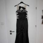 Suknia sylwester cekiny siateczka tren rozmiar 34