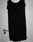 Sukienka tunika czarna puszysta duzy rozmiar 46 48