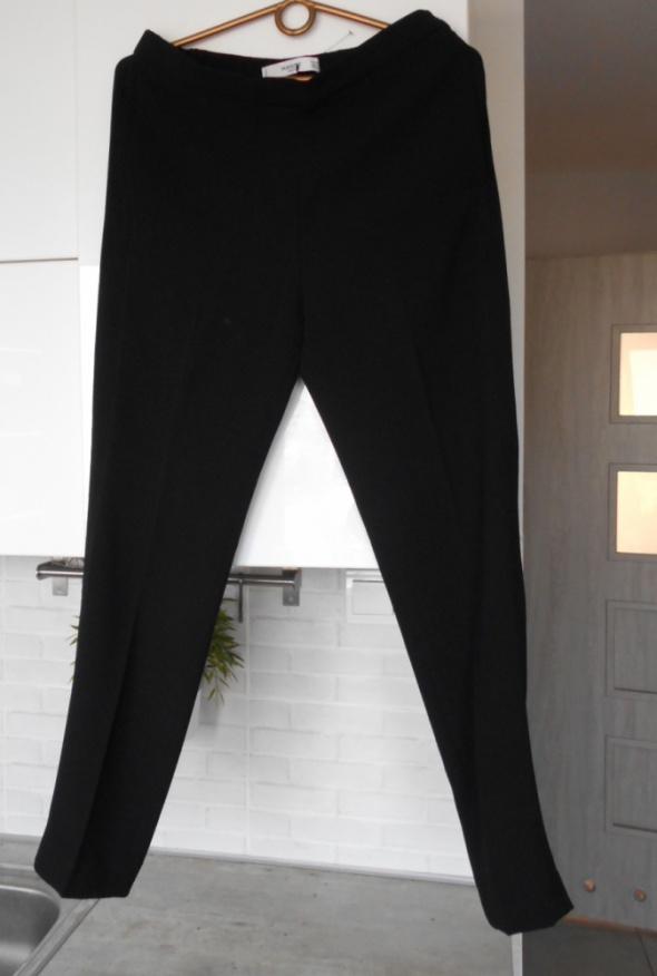 Mango nowe czarne spodnie cygaretki eleganckie klasyka minimalizm