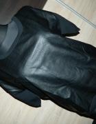 VILA czarna bluzka Eco skóra roz L...