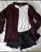Śliwkowy sweter Vero Moda...