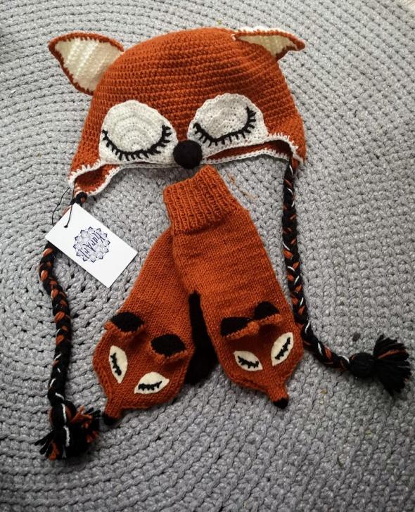 Komplety Komplet na zimę rękawiczki i czapka Made in POLAND