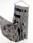 Maxi rozkloszowana spódnica welurowa elegancka 40