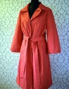 Czerwono malinowy cienki płaszcz na deszcz rozkloszowany Solar ...
