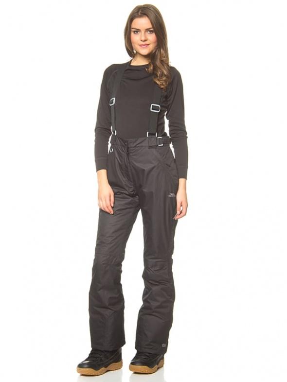 Spodnie Czarne spodnie narciarskie odpinane szelki Regatta L