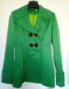 zielony płaszczyk