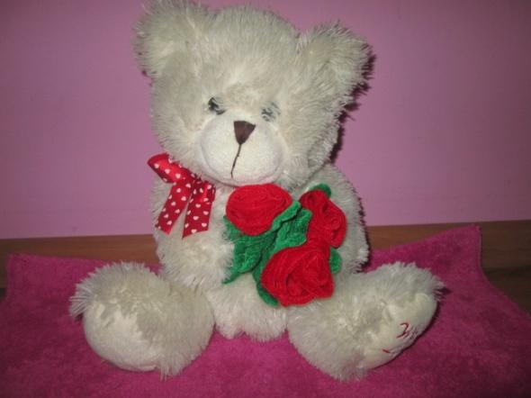 Zabawki Miś z bukietem róż WITH LOVE maskotki przytulanki