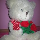 Miś z bukietem róż WITH LOVE maskotki przytulanki