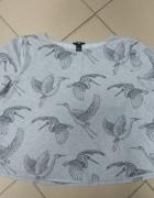 Bluzka szara ptaki H&M L 40...