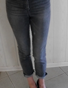 Nowe H&M jeansy XS 34 mommy jeans...