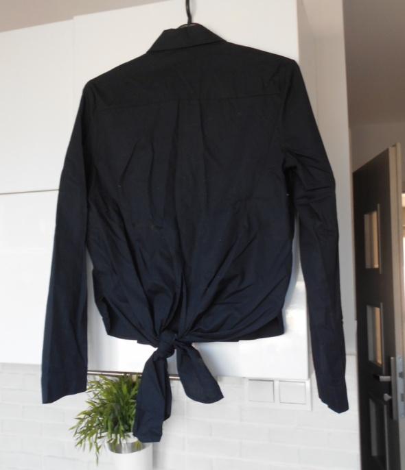 koszula zara czarna wiązana