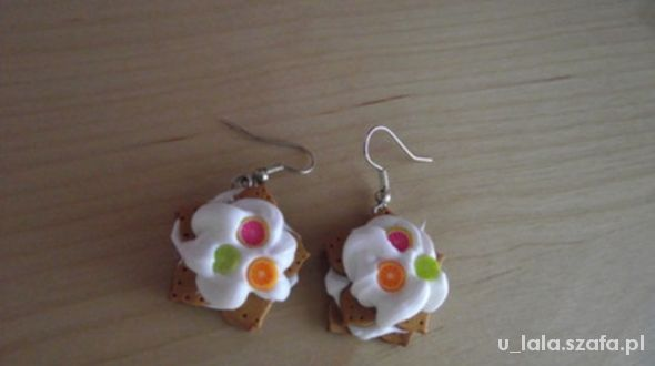 Kolczyki kolczyki ciasteczka handmade Nowe