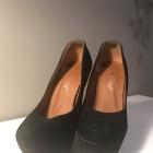 Buty szpilki czarne zamszowe wysokie 36