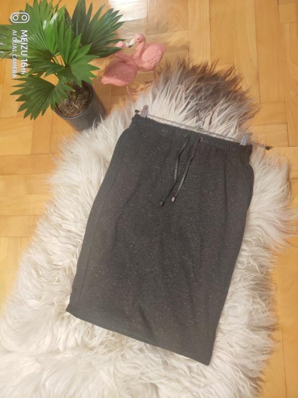 Spódnice Spodniczka midi melanz ekoskorkowy pas M