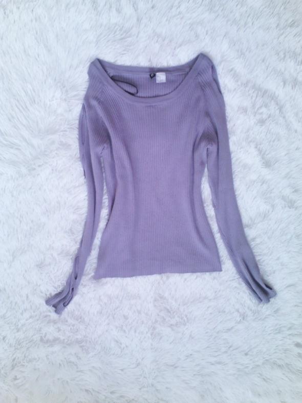 Liliowy sweterek...