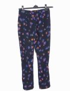 Topshop cygaretki spodnie kwiaty XS S 34 36