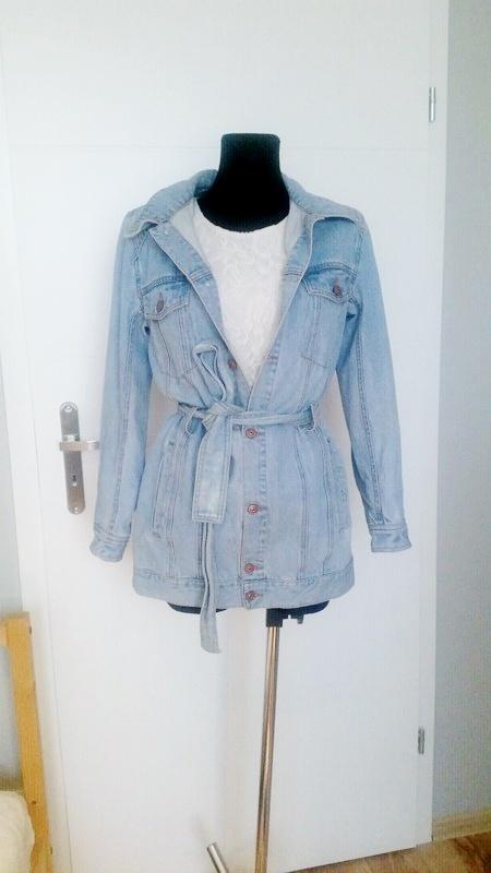 Przedłużana jeansowa kurtka katana H&M...