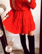 Sukienka Damska czerwona rozkloszowana M...