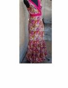 bawełniana maxi sukienka piękna S M