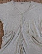 Świetna bluzka tunika szara na guziczki Vero Moda...