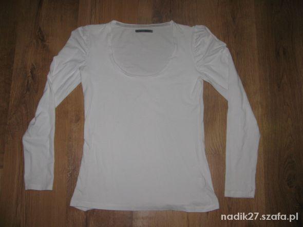 Biała bluzka długi rękaw roz S tanio...