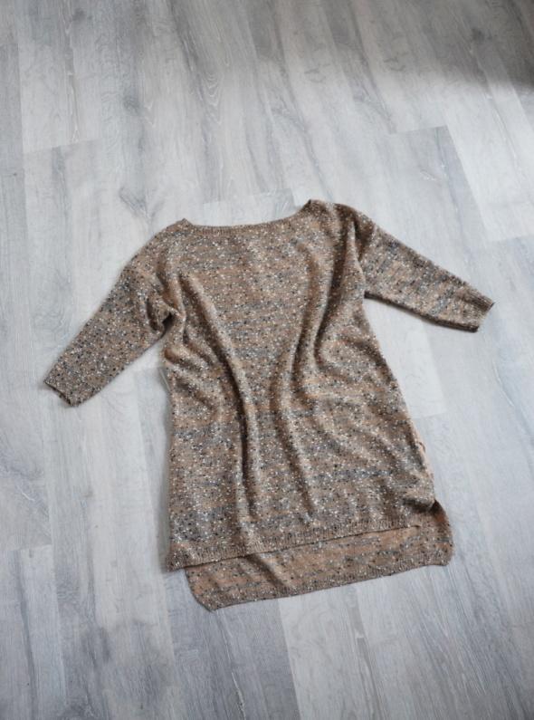 Mohito tunika sweterkowa melanż beż biały i czerń...