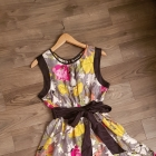 Sukienka Warehouse r M L kwiaty jedwab silk
