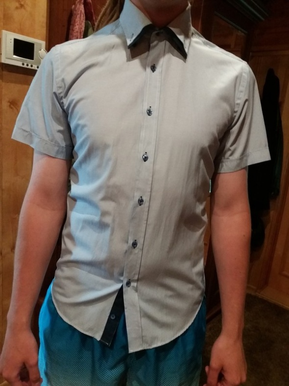 Koszula niebieska błękitna męska M