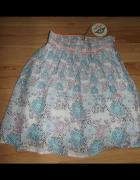 Nowa spódniczka w kwiaty XXS XS...